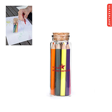 K-W770 - Kikkerland Colored Pencils in Glass Jar