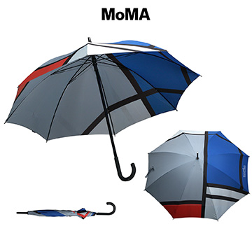 M-U5303BL - MoMA Mondrian Stick Umbrella
