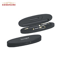 GF-625BKXB-Goodfaire Wood Ballpoint Pen and Keychain Gift Set