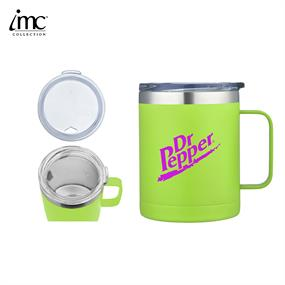 IMC-TM9985GN-14 oz Stainless Steel Camping Mug