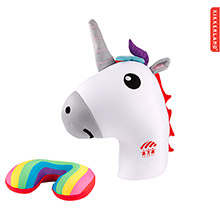 K-TP3939-Kikkerland Zip & Flip Travel Pillow-Unicorn