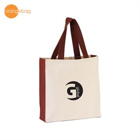 TT-1253BRN-Canvas Tote Bag